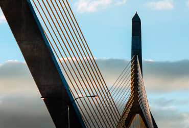 View of Bunker Hill Bridge in Boston