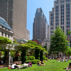 125 High St. in Boston, as seen from the Rose Kennedy Greenway